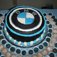 Bmw Cake I made this cake for my husband's birthday. I used a buttercream transfer technique. It was a lot of fun and he loved it!