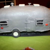 Airstream Cake This was an anniversary cake for a couple who are Airstream enthusiasts. I had several photos of the model that was requested, a 1953...