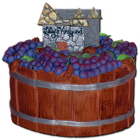 The Lety Wine Barrell Cake with Grapes