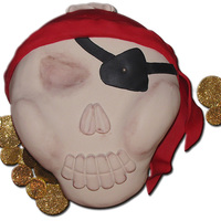 The Pollard V Pirate Skull Cake