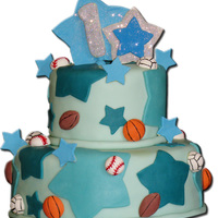 The Max Ii Sports Theme Cake