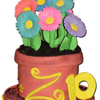 The Zoe Gerber Daisies made out of Fondant and Gumpaste, Butterfly is Gumpaste, Oreos for the dirt ... such a fun cake!