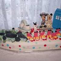 Grooms Cake Chocolate cake with chocolate icing and vanilla fondant. All things special to the bride and groom. An ironing board cake and iron, a...