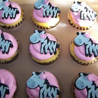 Zebra Cupcakes strawberry and vanilla cupcakes with vanilla buttercream