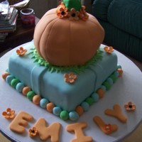 Fall Birthday fall festival birthday cake. Vanilla cake.