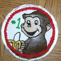 Curious George   Chocoate cake with buttercream