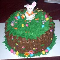 Hippity-Hoppity This was such a fun cake for me. I had a great time making it. The flowers are fondant, bunny is fondant/gumpaste and the carrots are...
