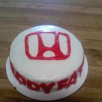 Honda Cake made with mmf i was very unhappy with how it came out my husband loved it though...i was having a bad cake day
