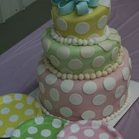 1St Topsy Turvy Cake 3 tier 10 inch cake, 3 8 inch cake, 3 6 inch layers-fondant bow on top
