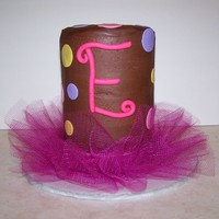 1St Birthday Diva Tutu Made for a friend's daughter on her 1st birthday. 4 - 6inch vanilla rounds layered tall with chocolate ganache to fill and frost and...