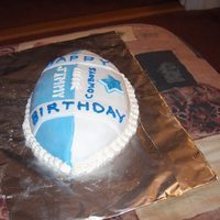 Dallas Cowboys Cake This is the first custom, fondant covered cake I ever sold.(just this past saturday) the client loved it and I am glad I was able to pull...