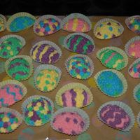 Easter Egg Cupcakes Easter egg cupcakes made for my daughter's class.