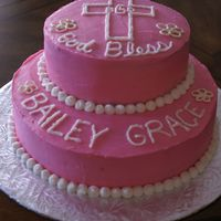 Baby Baptism A two-tiered cake for my niece's baptism. This could easily be adapted for first communion, baby shower's or anniversaries and...