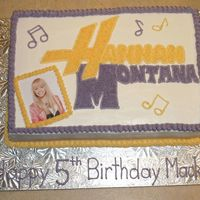 Hannah Montana My customer's daughter is allergic to treenuts so I didn't want to use the Wilton icing colors because of the allergy warnings,...