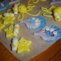 Gum Paste Starfish W/bottles more gumpaste sea life with bottles for baby shower
