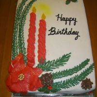 Christmas Birthday Cake This was inspired by another CCer, I think the name is Thang(?). I just loved the cake and when a friend asked for a Christmas bd cake I...