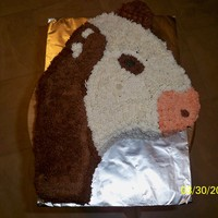 Cow   Carved this cake from a picture the little girl gave me of her cow.