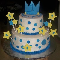 Little Prince   Cake made for a 1st birthday little prince theme