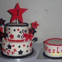 1St Birthday Rock Star   1st birthday cake and smash cake for a rock star themed birthday party.