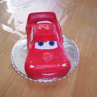Lightning Mcqueen Birthday Cake A friend of mine wanted a CARS cake for her two year old son. This was the result. I just looked at a couple of toy Lightning McQueens that...