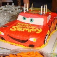 Lightening Mcqueen For my friend's little boy Sammy. He LOVES the movie CARS! He LOVED the cake too!