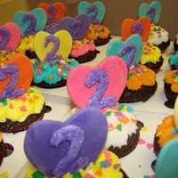 Dora Cupcakes! these cupcakes were for a little girls 2nd birthday party. It was Dora themed and these went along with the Dora cake