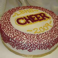 Cheer Banquet Cake this was for Laguna Beach High School cheer baquet