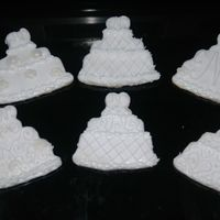 Wedding Cake Cookies A sample of wedding cake cookies I am doing this weekend.