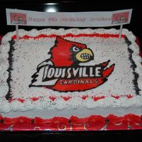 University Of Louisville Logo U OF L Cake for my little cousin. Bird is a FBCT.