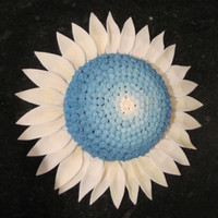 Blue Daisy Inspired by a fellow CC'er. This was supposed to be violet, but turned blue!