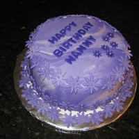 Purple Birthday Cake Fondant covered, chocolate cake with strawberry cream filling. I do not like the way this turned out at all, but the customer loved it, and...