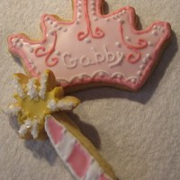 Tiara And Wand Cookies Tiara and wand for a little girls 3rd birthday