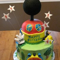 Mickey Mouse Clubhouse 2 Tier cake that is made to look like Mickey Mouse Clubhouse, mmf decorations.Looked at so many different cakes here and would like to...