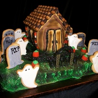 Haunted House   Made from Cookies, cake and candy!