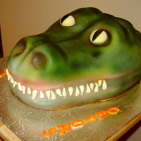 The Florida Gators This cake was a groom cake and 100% cake. I covered with fondant and airbrushed it. Enjoy!