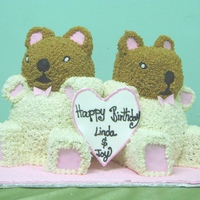 Teddybears Buttercream cake for twins