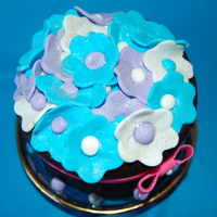 Mini Flower Pot Cake (Purple And Blue Flowers) This adorable mini cake was ordered by a client to surprise a special friend for her birthday. The request was to incorporate blue and...