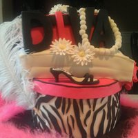 Diva Cake I made for our Choir Teacher...and she is just AMAZING!