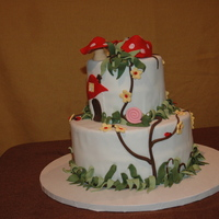 Cake I Made In Fondant Frills Class The class was really fun. I loved learning to make the fairies and such.