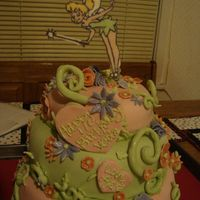 Tink Cake Made this for a two year old's birthday, I know I am crazy! But it was lterally my 4th cake & I wanted a challenge. Tinkerbell is...