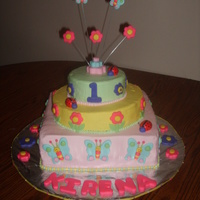 Garden Friends Buttercream with fondant decorations