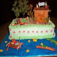 Rolling Down A River This cake was inspired from childhood memories of making homemade rafts and the many adventures we had exploring the creeks near my home....