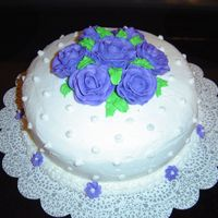 Cake_014.jpg First Special Occasion Cake for Wilton Class. First Roses I ever made.