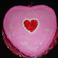 Valentine's Cake Single layer Heart Shaped Cake with Buttercream Icing & Edible Glitter
