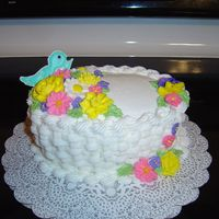 Flower Basket Basket Weave Buttercream Flowers Colorflow Bird