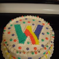Webkinz Buttercream icing done in bright colors to match Webkinz Theme