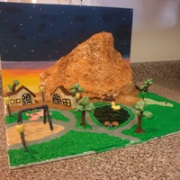 Summerlin Competition Cake (Suburb Of Vegas)  This is for a competition locally for a community called Summerlin. The mountain is the cake, it is Triple Chocolate with whipped cream...