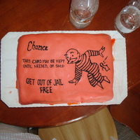 Get Out Of Jail Free  A friend was having a party because he had just been cleared of a DUI charge. I thought this cake would be funny. However, my fondant had...