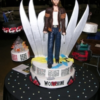 Wolverine Fangirl Ultra-Cake - Full Frontal Wolverine Second place winner, showcase, 2011 Austin cake show. More details including how it was made at: http://kimberlychapman.com/crafts/cakes/...