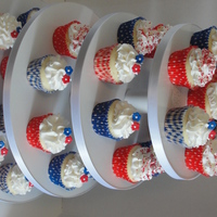 4Th Of July Cupcake Tower